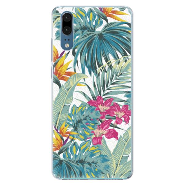 Plastové pouzdro iSaprio - Tropical White 03 - Huawei P20