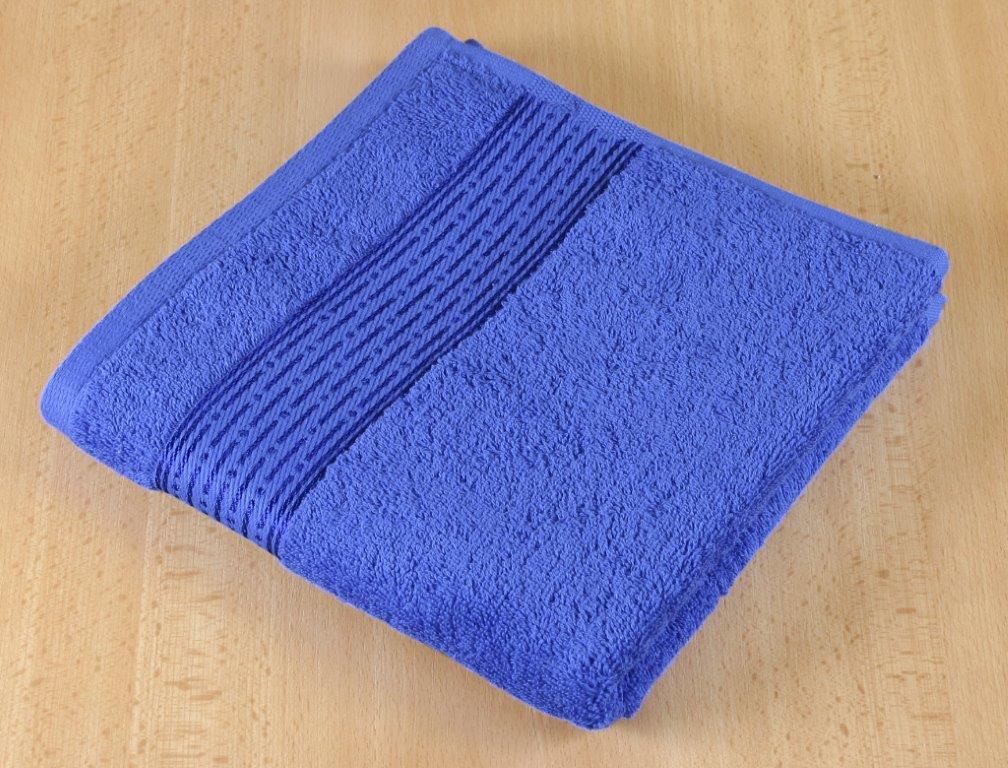 Froté ručník 50x100cm proužek 450g tmavě modrá