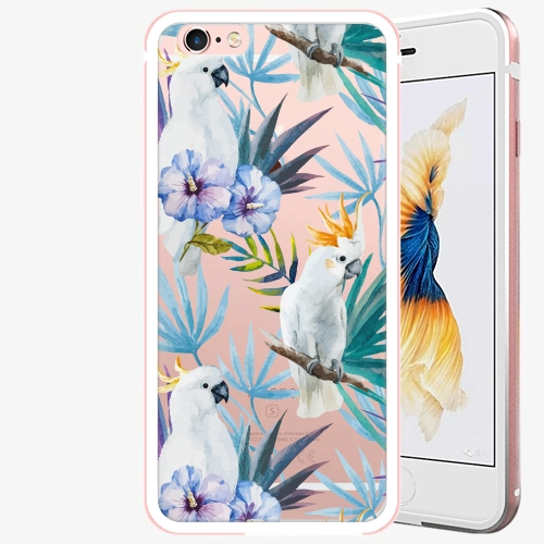 Plastový kryt iSaprio - Parrot Pattern 01 - iPhone 6 Plus/6S Plus - Rose Gold