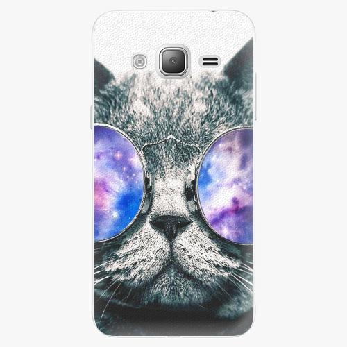 Plastový kryt iSaprio - Galaxy Cat - Samsung Galaxy J3 2016