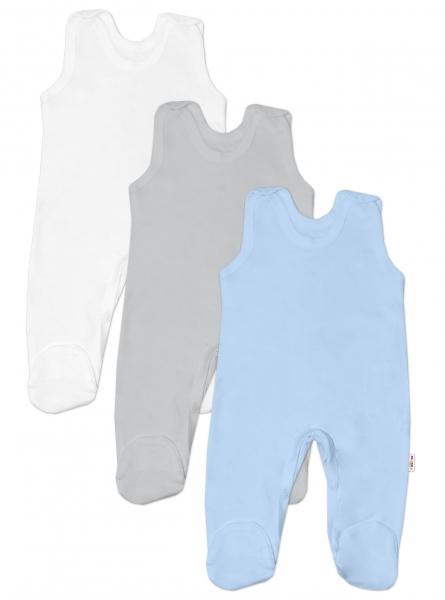 Baby Nellys Kojenecká chlapecká sada dupaček BASIC - modrá, šedá, bílá - 3