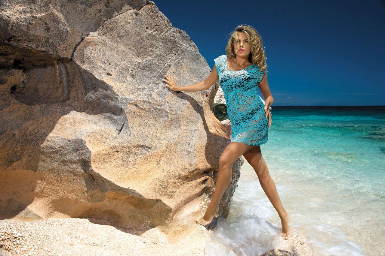 Plážové šaty D-12 mašle - Etna - Černá/36