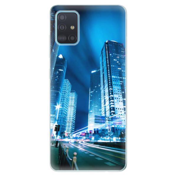 Odolné silikonové pouzdro iSaprio - Night City Blue - Samsung Galaxy A51