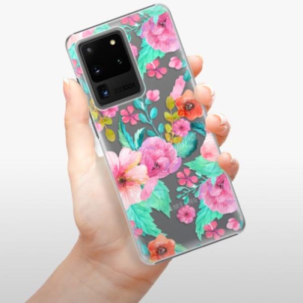 Plastové pouzdro iSaprio - Flower Pattern 01 - Samsung Galaxy S20 Ultra