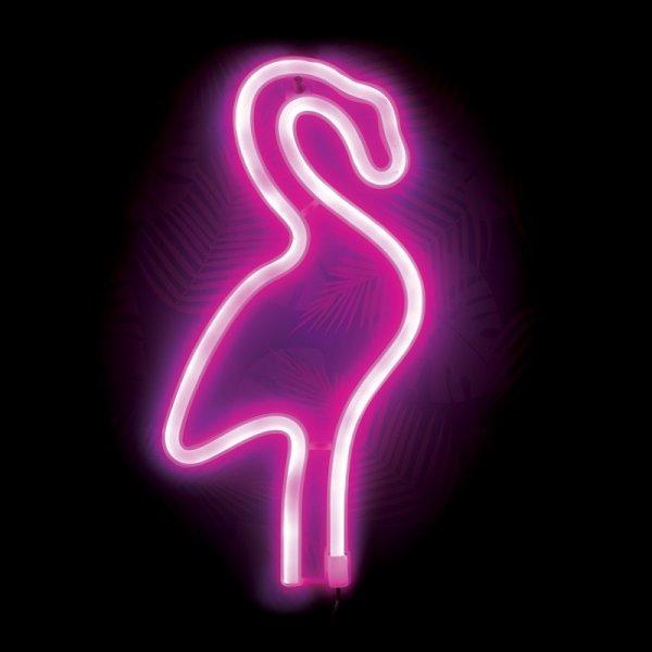 Neonová lampa zářivý plameňák