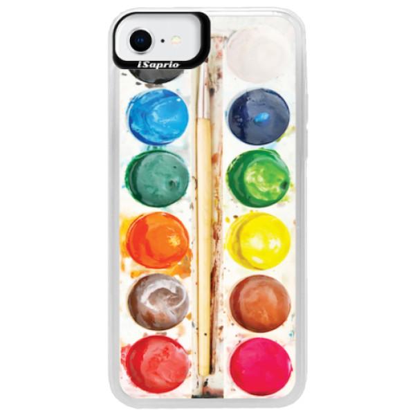 Neonové pouzdro Blue iSaprio - Watercolors - iPhone SE 2020