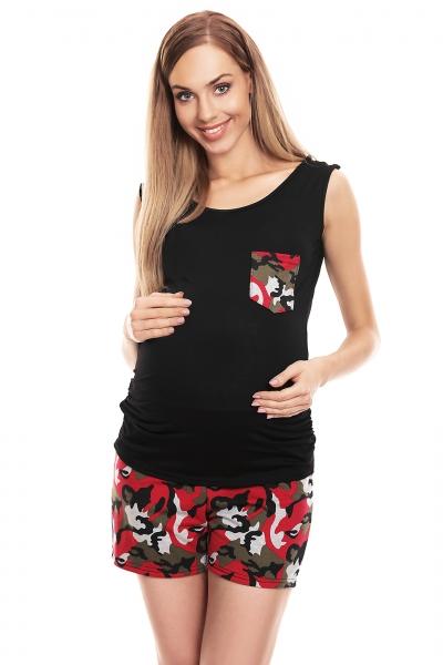 Be MaaMaa Těhotenské, kojící pyžamo maskáčové