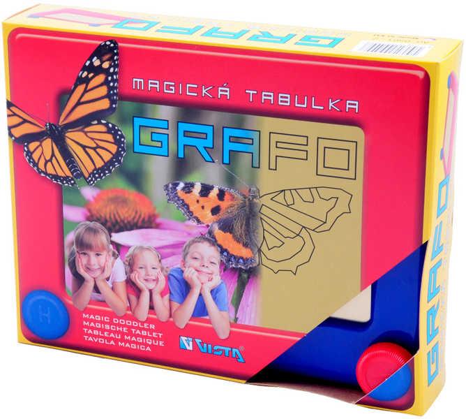SEVA Magická mazací tabulka GRAFO s kreslícími kolečky