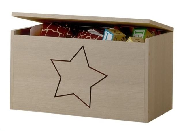 Box na hračky, truhla s hvězdičkou ke kolekci Žirafka
