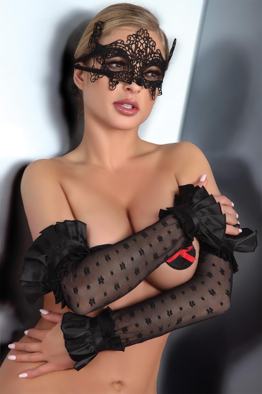 Erotická maska Mask model 2 - Černá/Univerzální