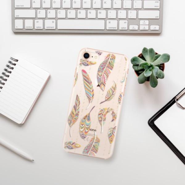Plastové pouzdro iSaprio - Feather pattern 02 - iPhone 8