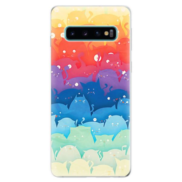 Odolné silikonové pouzdro iSaprio - Cats World - Samsung Galaxy S10