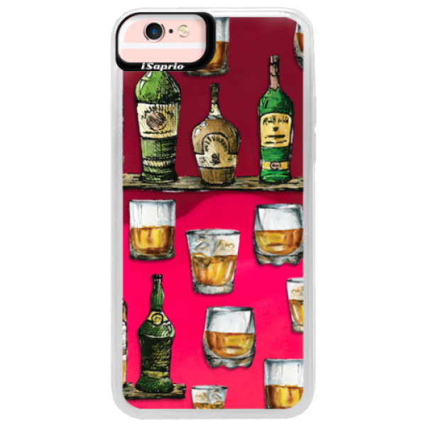 Neonové pouzdro Pink iSaprio - Whisky pattern - iPhone 6/6S