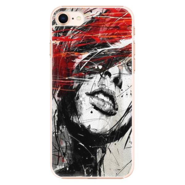 Plastové pouzdro iSaprio - Sketch Face - iPhone 8