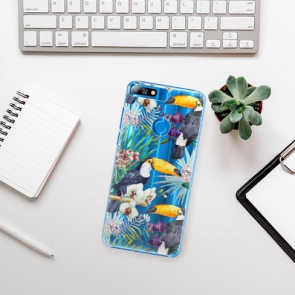 Plastové pouzdro iSaprio - Tucan Pattern 01 - Huawei Y7 Prime 2018