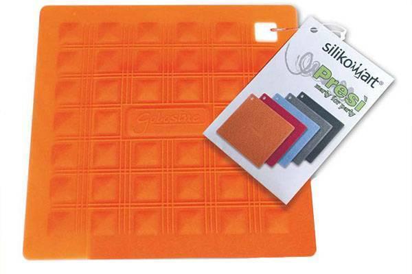 Silikonová podložka pod nádobí – oranžová
