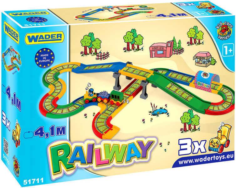 WADER Železnice s městem plastová KID CAR 4 M 51711