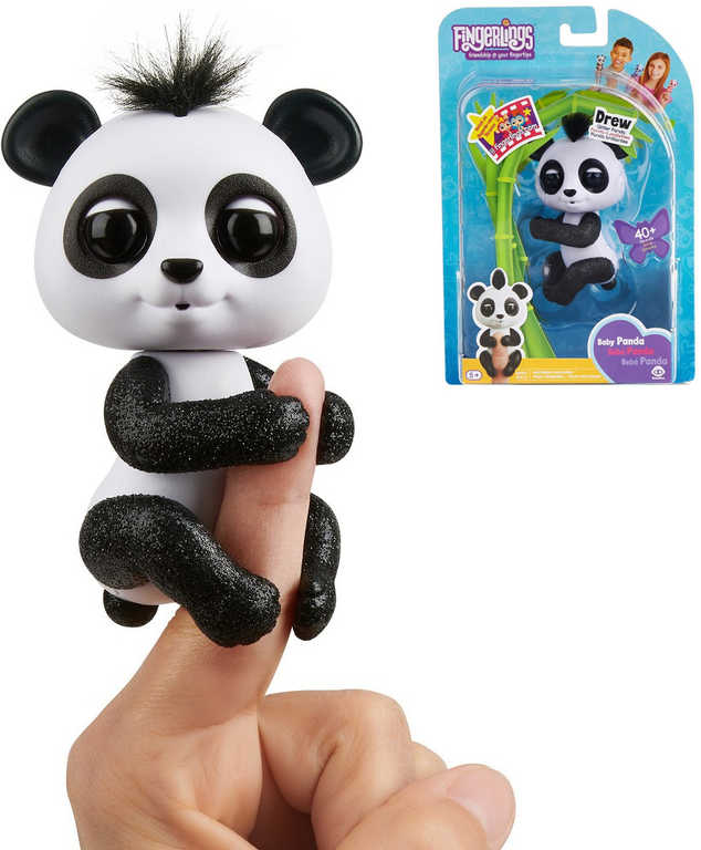 Fingerlings Baby Panda zvířátko interaktivní na prst na baterie různé barvy Zvuk