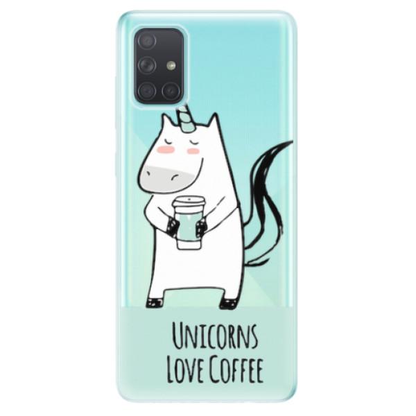 Odolné silikonové pouzdro iSaprio - Unicorns Love Coffee - Samsung Galaxy A71