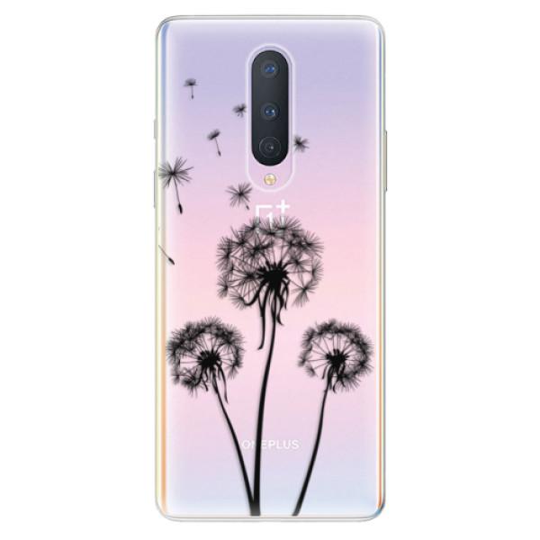 Odolné silikonové pouzdro iSaprio - Three Dandelions - black - OnePlus 8
