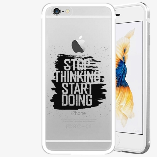 Plastový kryt iSaprio - Start Doing - black - iPhone 6/6S - Silver