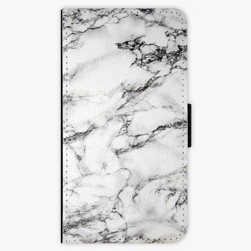Flipové pouzdro iSaprio - White Marble 01 - Lenovo Moto G4 / G4 Plus