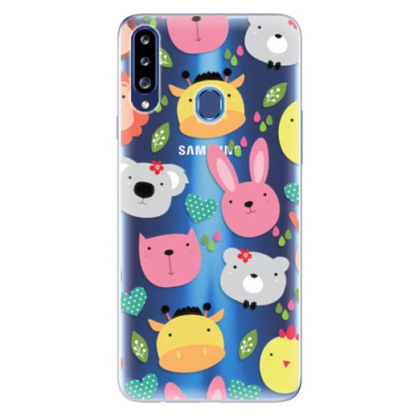 Odolné silikonové pouzdro iSaprio - Animals 01 - Samsung Galaxy A20s