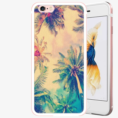 Plastový kryt iSaprio - Palm Beach - iPhone 6 Plus/6S Plus - Rose Gold