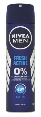 Men Fresh Active antiperspirant bez hliníku, 150 ml