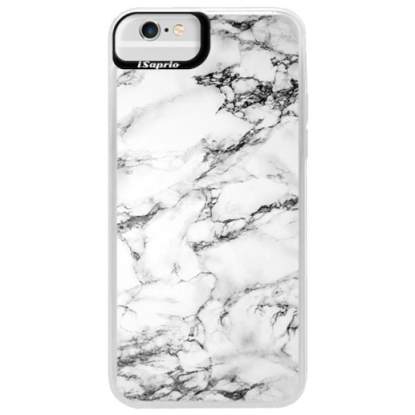 Neonové pouzdro Blue iSaprio - White Marble 01 - iPhone 6 Plus/6S Plus