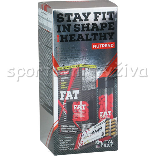 Fat Direct 60c+Multivitamin Compresc.Caps 60c