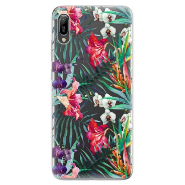 Odolné silikonové pouzdro iSaprio - Flower Pattern 03 - Huawei Y6 2019