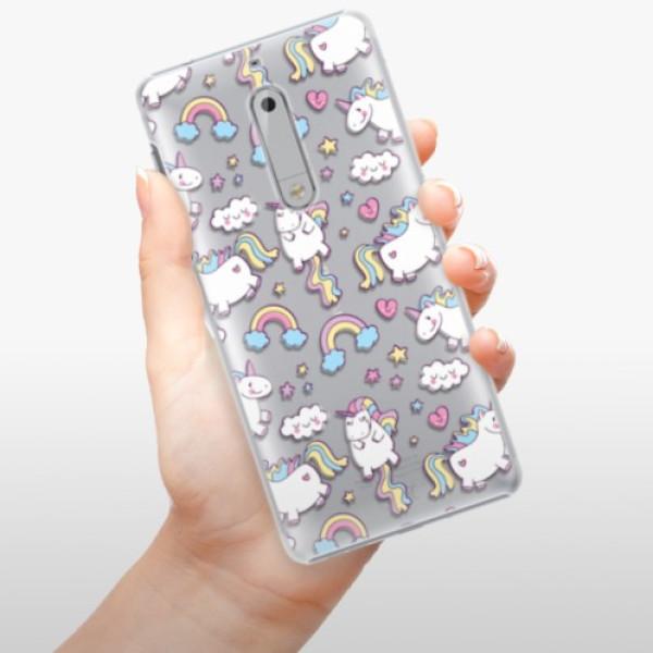 Plastové pouzdro iSaprio - Unicorn pattern 02 - Nokia 5