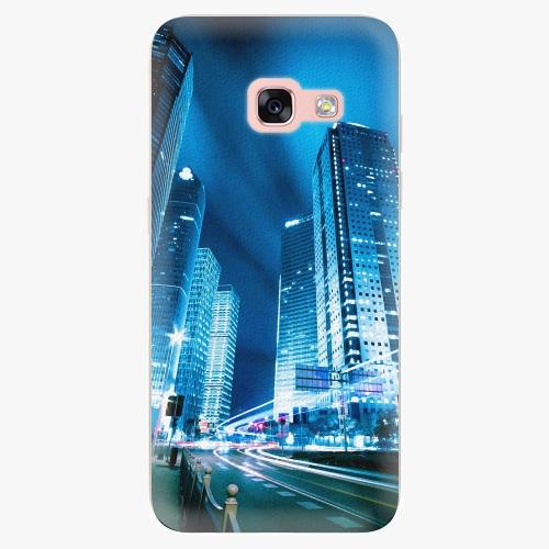 Plastový kryt iSaprio - Night City Blue - Samsung Galaxy A3 2017