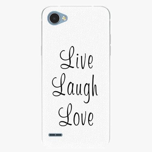 Plastový kryt iSaprio - Live Laugh Love - LG Q6
