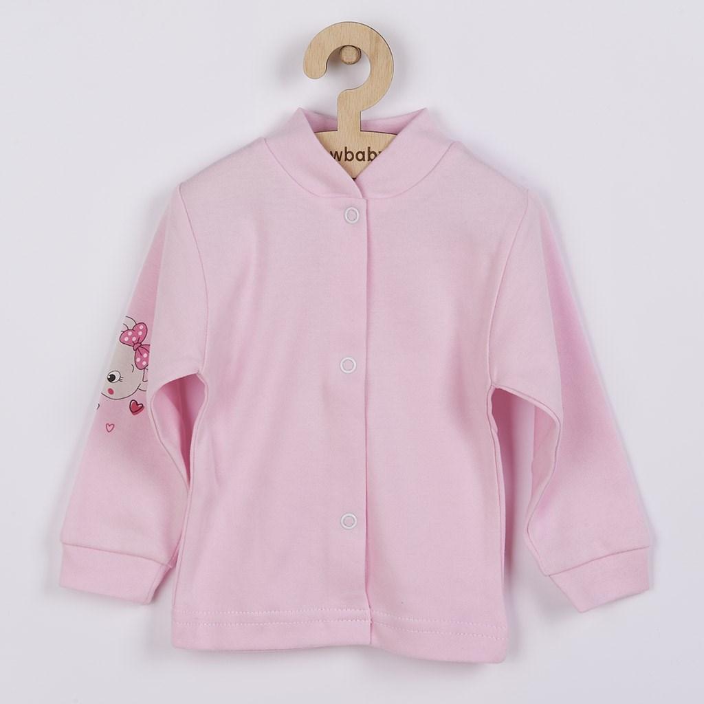 Kojenecký kabátek New Baby - myška - růžová/68 (4-6m)