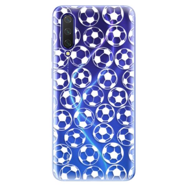 Odolné silikonové pouzdro iSaprio - Football pattern - white - Xiaomi Mi 9 Lite