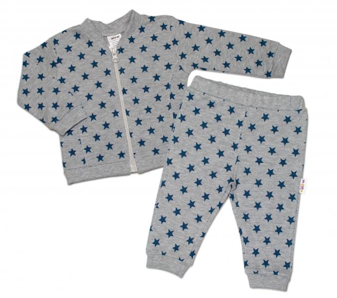 Bavlněná tepláková souprava Baby Nellys ® - Hvězdičky tm.