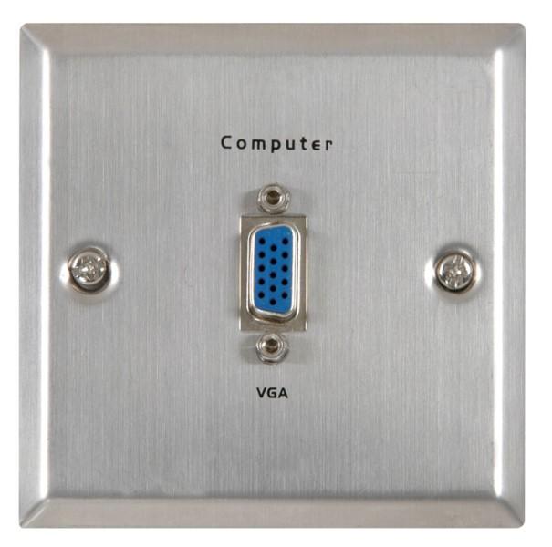 AV:link nástěnná zásuvka VGA, kovová