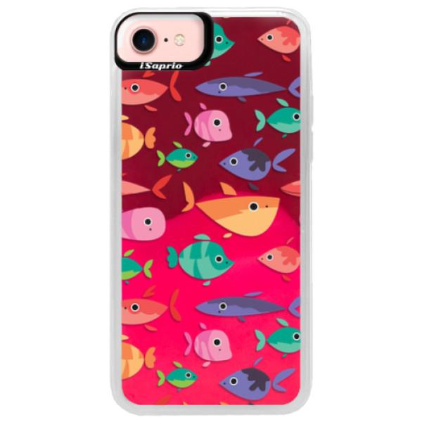 Neonové pouzdro Pink iSaprio - Fish pattern 01 - iPhone 7