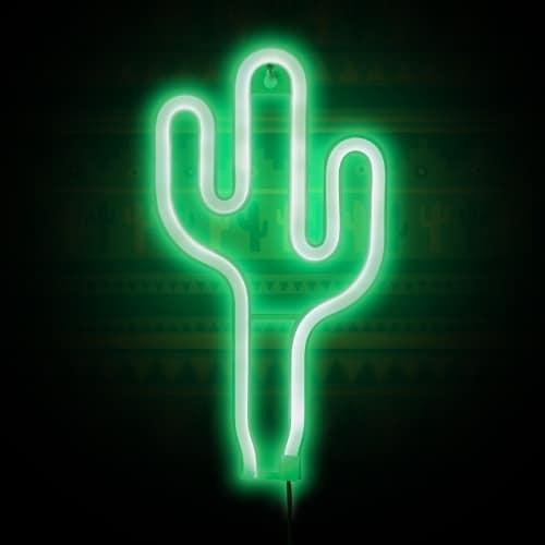 Neonové světlo - Kaktus