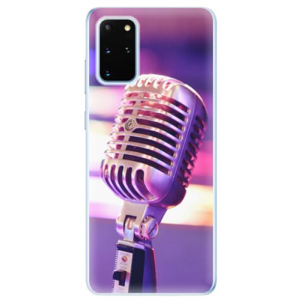 Odolné silikonové pouzdro iSaprio - Vintage Microphone - Samsung Galaxy S20+