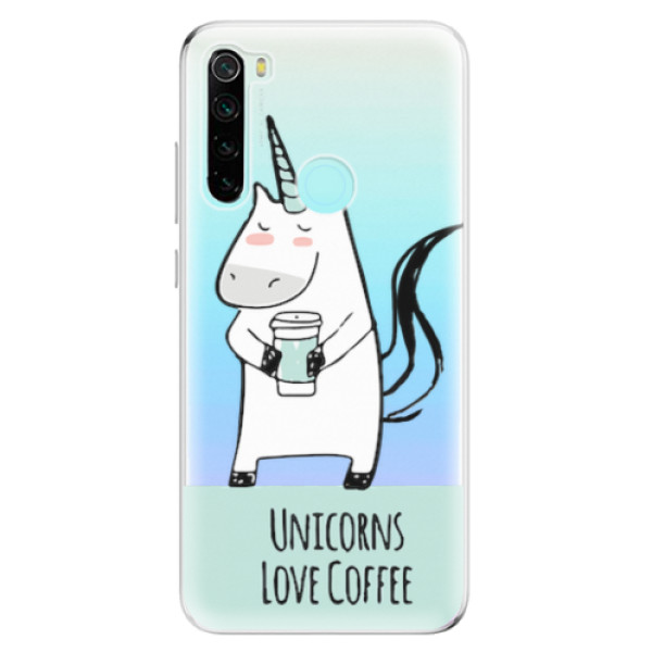 Odolné silikonové pouzdro iSaprio - Unicorns Love Coffee - Xiaomi Redmi Note 8