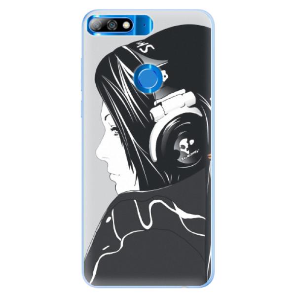 Silikonové pouzdro iSaprio - Headphones - Huawei Y7 Prime 2018