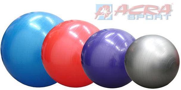 ACRA Míč gymnastický 75 cm na cvičení GYMBALL