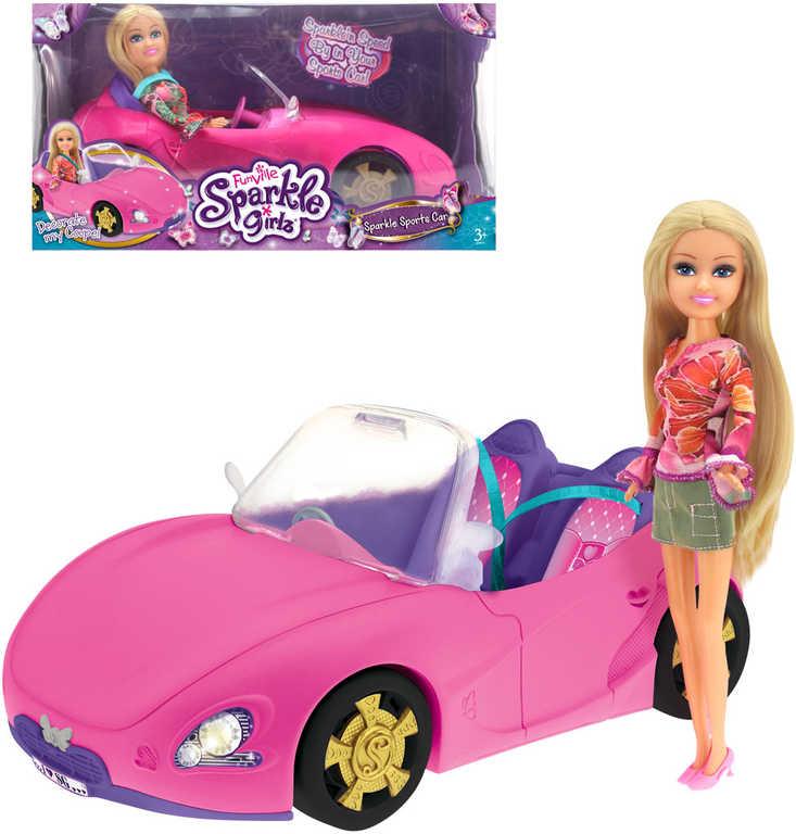 Panenka blondýnka Sparkle Girlz set se závodním autem plast