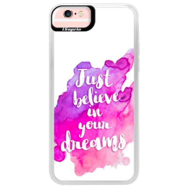 Neonové pouzdro Pink iSaprio - Believe - iPhone 6/6S