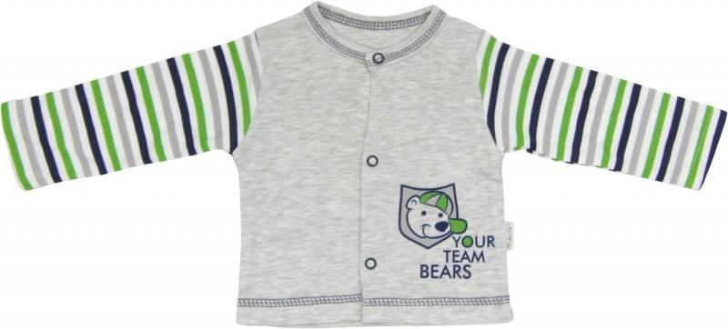 Mamatti Bavlněná košilka Medvídek proužek, roz. 80 - 80 (9-12m)