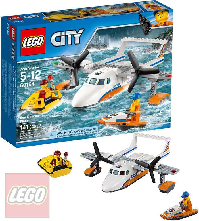 LEGO CITY Záchranářský hydroplán 60164 STAVEBNICE