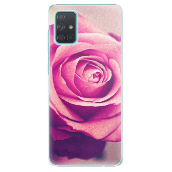 Plastové pouzdro iSaprio - Pink Rose - Samsung Galaxy A71